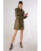 Жакет-сукня зелений із шерсті