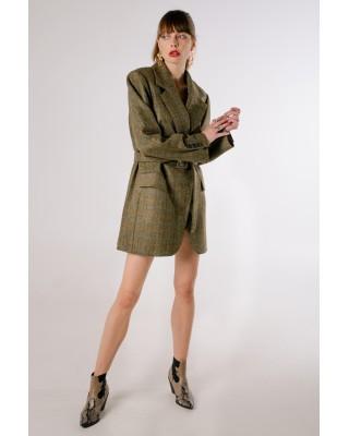 Green wool jacket-dress