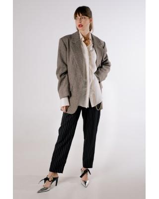 Жакет-пальто в ялиночку