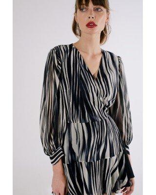 Сукня міні принт зебра