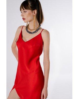 Сукня-комбінація червона
