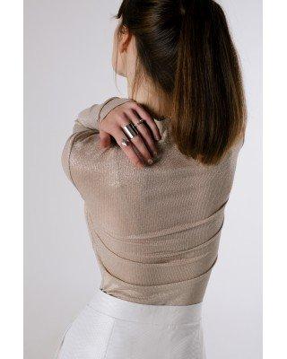 Блуза-гольф з ниткою люрекс