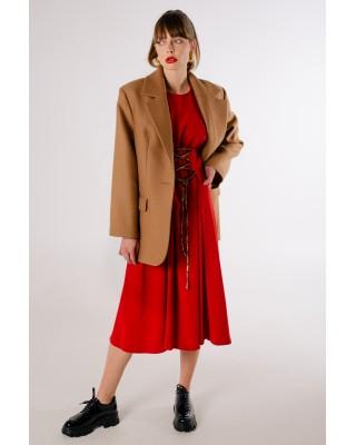 Пальто-жакет коричневе