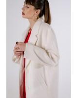 Пальто біле альпака
