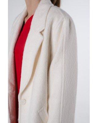 White alpaca coat