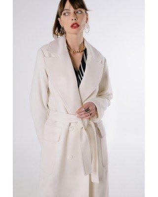 White cashmere coat