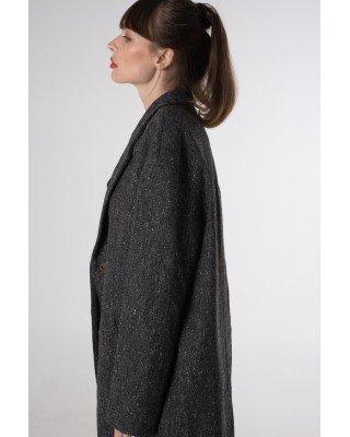 Пальто oversize з кишенями