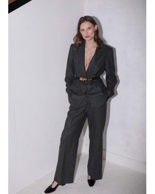 Suit jacket and pants dark gray