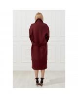 Подовжене пальто oversize з накладними карманами