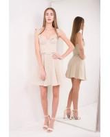 Сукня-бюстьє, міні, на широких бретелях