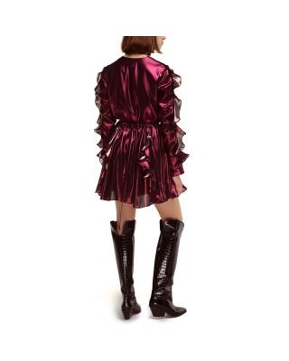 Сукня міні з  воланами