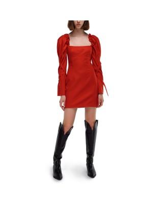 Wool mini dress with loose sleeves