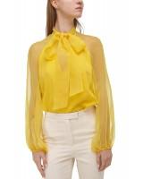 Блуза зі зйомним бантом-шарфом