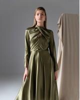 Сукня з вузлом попереду зелена