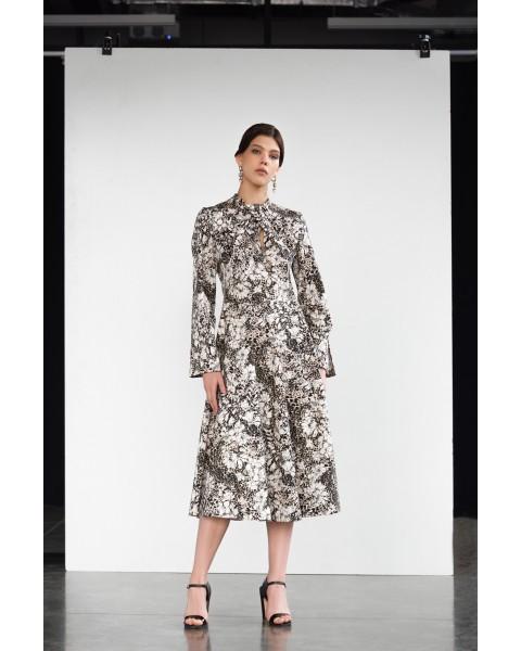 Сукня з вузлом попереду в квітковий принт