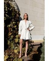 Сукня-жакет біла з гудзиком