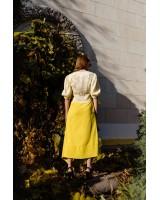 Асиметрична спідниця максі жовта