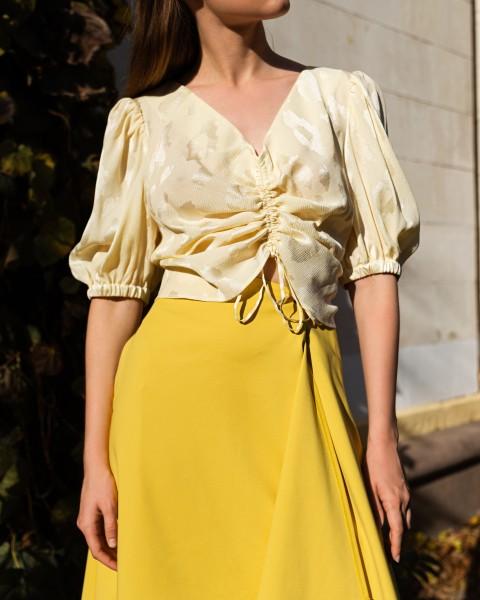 Блуза-топ з шовку