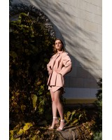 Жакет на гудзику рожевий