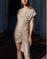 Мини-платье с ниткой люрекс