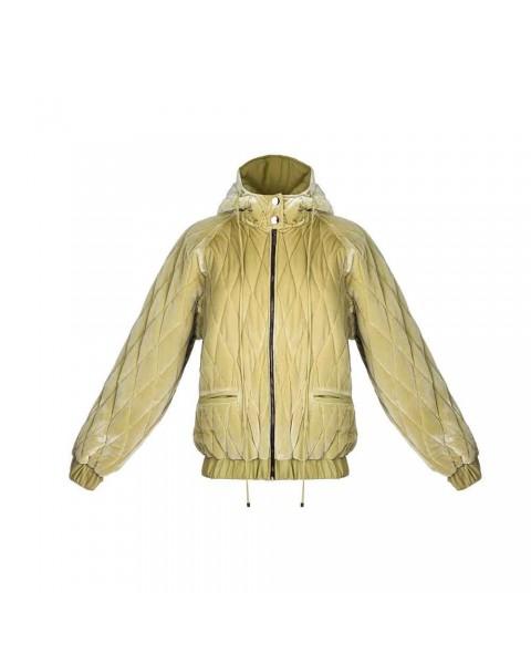 Утеплена оксамитова куртка