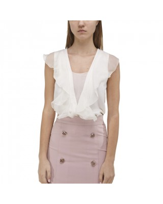 Top with silk ruffles
