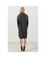 Oversize coat with pockets