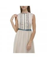 Приталена сукня  міді з баскою