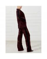 Шелковые брюки с набивным принтом