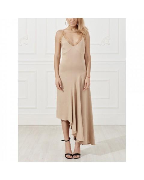 Сукня-комбінація з воланом