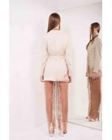 Lace transparent viscose lining pants on elastic ribbon on the waist