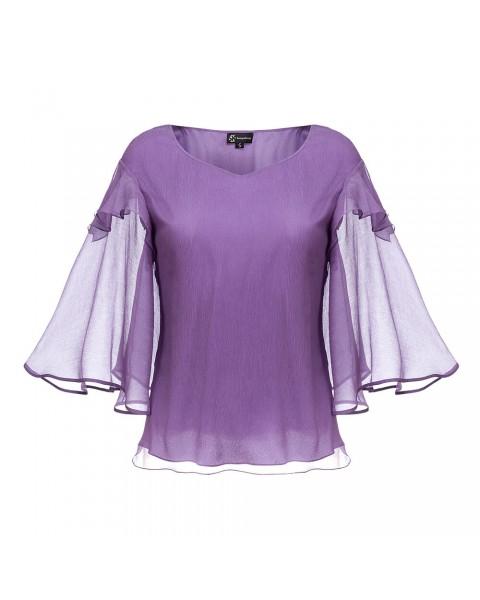 Блуза з рукавами-кльош