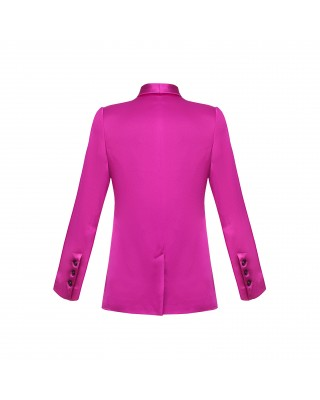 A fitted fuschia jacket
