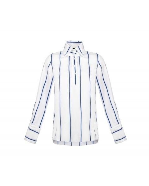 Полосата рубашка прямого крою