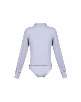 A light blue viscose bodysuit