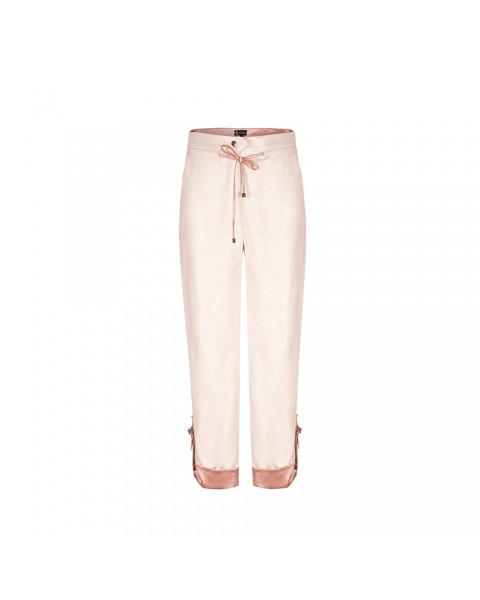 Укорочені брюки прямого крою з підкатами