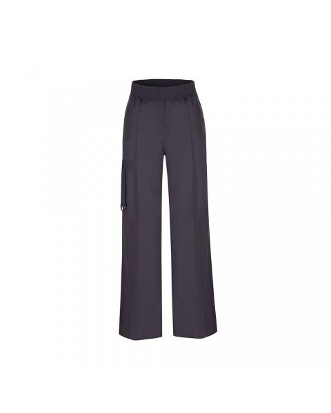 Шерстяні брюки-дудочки зі стрілками та декоративними підв'язками
