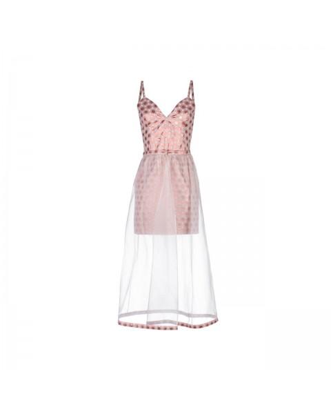 Приталена сукня зі зйомною спідницею