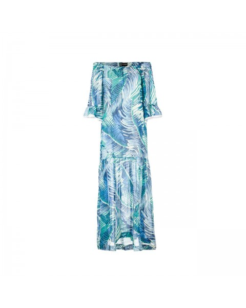 Сукня-максі із шовку на резинці