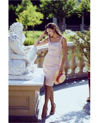 Жакардова міні-сукня