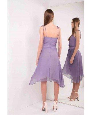 Сукня-сарафан із шовку на зав'язках зі зйомним ременем