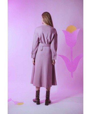 Трикотажна сукня міді на кулісці зі спущеними плечами та зйомним поясом