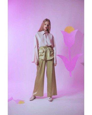 Брюки с декоративной юбкой с карманами-клапанами