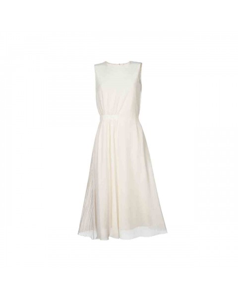 Платье миди с резинкой на талии