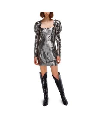 Міні-сукня з об'ємними рукавами