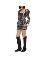 Міні-сукня зі збіркою та об'ємними рукавами
