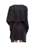 Сукня-жакет з воланом на спині