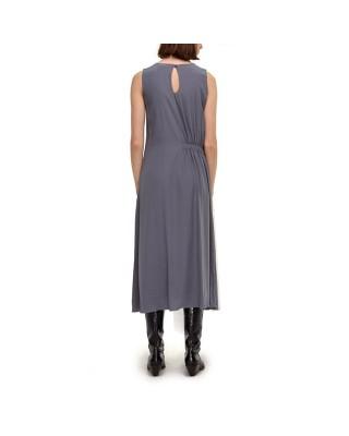 Сукня міді з резинкою на талії