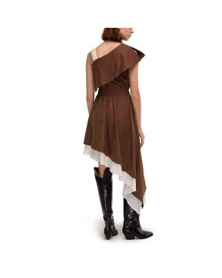 A dress with assymetric skirt