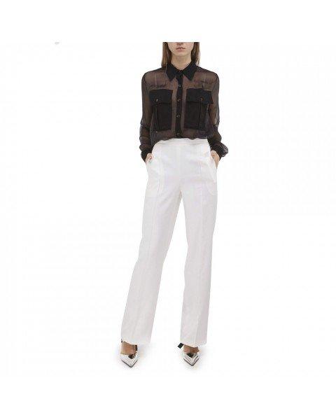 Pants of straight cut